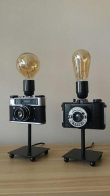 Lampka z aparatu foto.  Styl i elegancja. Pięknie rozświetli zarówno pokój dz...