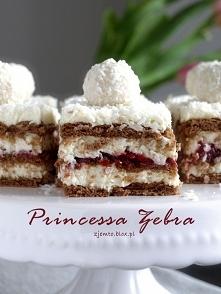 Ciasto princessa zebra - bez pieczemia
