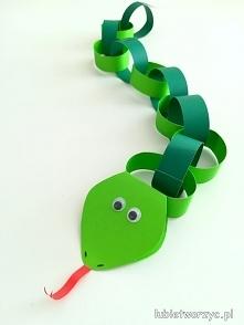Tutorial prezentujący sposób powstawania papierowego węża
