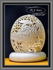 Strusie jajko piwonie - Egg...