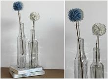 Pomponowe kwiaty z włóczki - już na blogu! :)