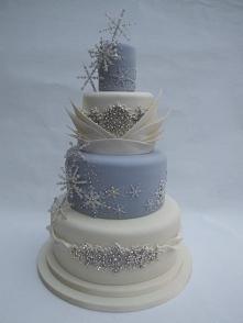 zimowy tort