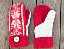 cieplusie rękawisie ze swetra.