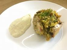 Kule ryżowe w piersi z kurczaka. Pyszny warzywny ryż z kurczakiem zapiekany w...