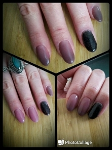 beżowe ombre nails