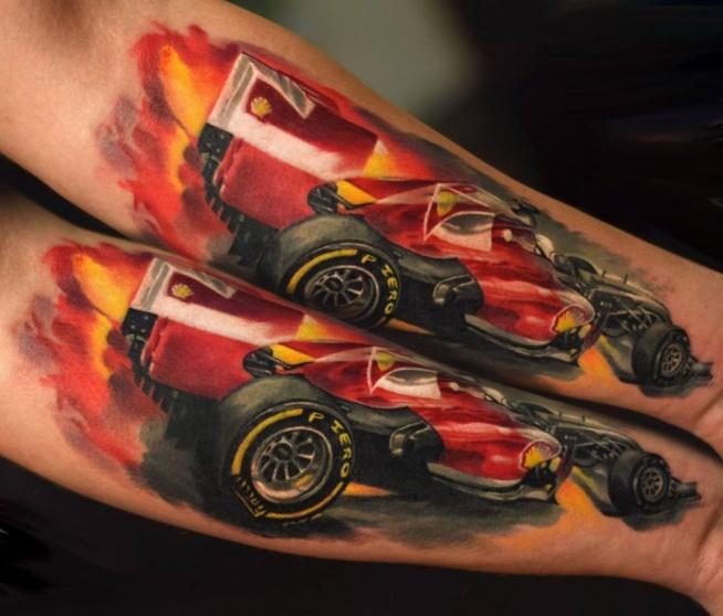 Samochód F1 Na Tatuaże Zszywkapl