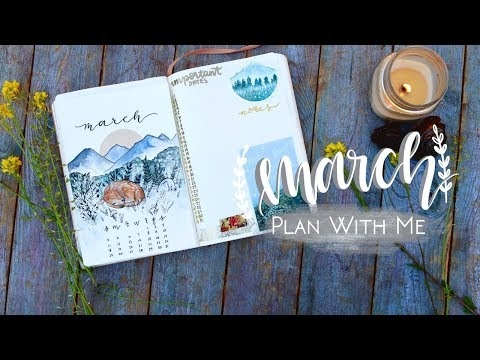 PLAN WITH ME | March 2018 | w/ MyLifeinaBullet, ChristineMyLinh, and Nicole's Journal