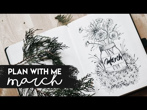 PLAN WITH ME ♡ March 2018 ♡ | Jars Theme
