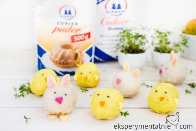 Wielkanocne trufle z białej czekolady - słodkości na Wielkanoc - Coś dla fanów białej czekolady - wielkanocne trufle czekoladowe