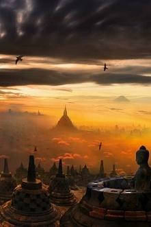 Świątynia Borobudur na Jawie,Indonezja