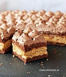 Ciasto Kakaowa Krówka z Krakersami.