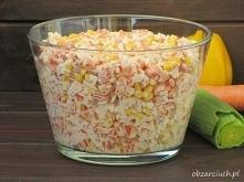 Syta sałatka z ryżem, szynk...