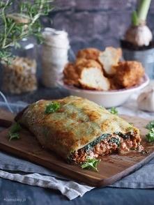 Rolada ziemniaczana z mięsem, serem i szpinakiem / Cheesy potato roll with me...