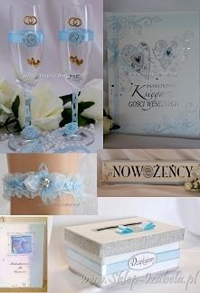 niebieskie dekoracje dla Mł...