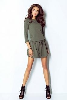 Sukienka Anette w cudownym kolorze khaki <3  @ivonsklep ivon-sklep.pl