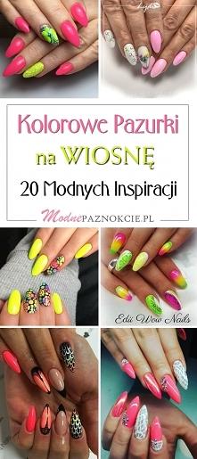 Kolorowe Paznokcie na Wiosnę: TOP 20 Modnych Inspiracji