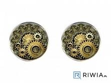 Spinki do mankietów z motywem mechanizmu zegarka