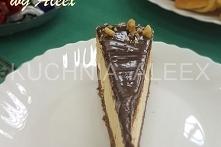 Sernik z czekoladowym kajmakiem wg Aleex