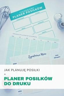 Jak planuję posiłki - Planowanie menu + planer do druku • origamifrog.pl