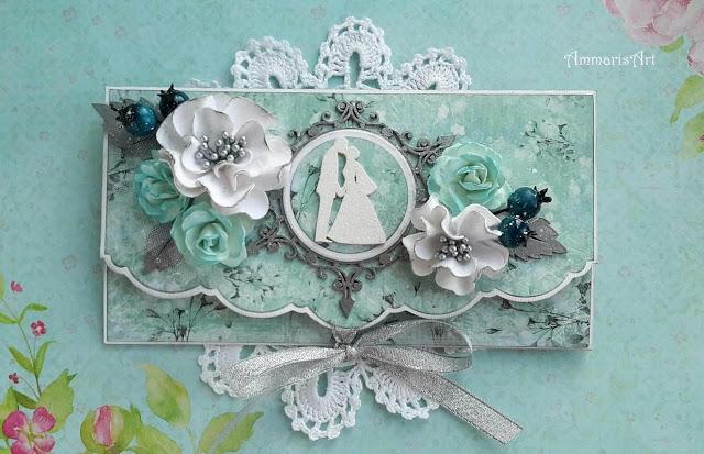 Kopertowa kartka na ślub