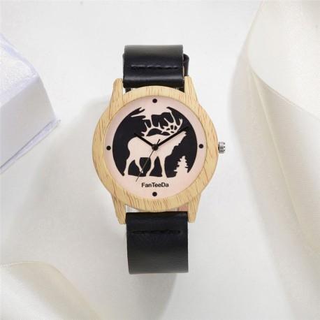 Zegarek Drewniany Fan Tee Da MOOSE  -> Kliknij w zdjęcie, by przejść do sklepu - CzasNaZegarki.pl