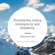 Prawdziwą miarą inteligencji jest działanie.  - Napoleon Hill