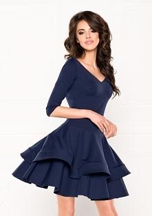 LULU - Sukienka z obniżonym...