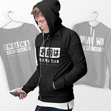 japonia.teetres.com  Omae wa mou shindeiru Bluzy z japońskim napisem Odzież o...