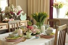 wielkanocny stół - dekoracj...