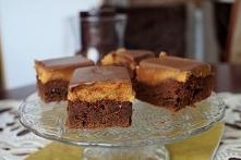 Brownie z masą orzechową