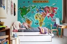 Kolorowy pokój dziecięcy (fototapeta-mapa świata: Myloview)