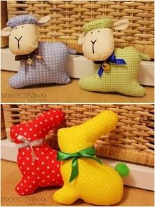 Baranki i króliczki wielkanocne szyte handmade Zapraszam serdecznie na moją stronę na facebooku: paseczkowa handmade