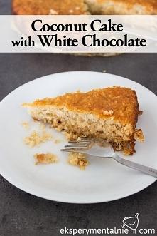 Kokosowe ciasto z białą cze...