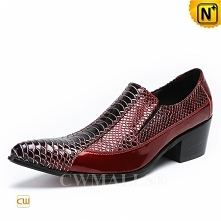 CWMALLS® Warsaw Red Leather Dress Shoes CW708200[Personalized Gifts]