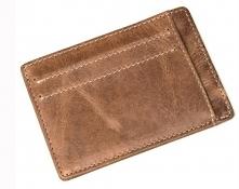 Saszetka męska na karty bankowe lub wizytówki, obok portfela lub zamiast nieg...
