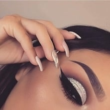 make up, eye, eyebrown, nails