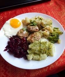Zdrowsza wersja mielonych z szynki z warzywami