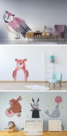 Naklejki ze zwierzętami - dekoracja pokoju dziecięcego (więcej propozycji zna...