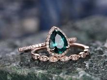 6x8mm Pear Emerald Wedding ...