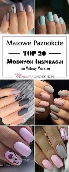 Matowe Paznokcie: TOP 20 Modnych Inspiracji na Matowy Manicure