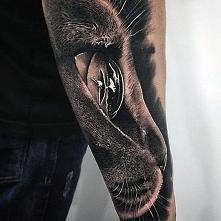 realistic cat head tattoo