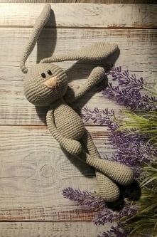 Królik maskotka przytulanka rękodzieło Handmade zrobiony na szydełku ;-)