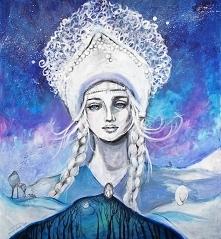 """""""Cказка/Bajka"""" obraz wykonany farbami akrylowymi przez artystkę plastyka Adrianę Laube na płótnie 100x90cm. Obraz naciągnięty na blejtram, sygnowany."""