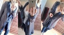 Długi sweter do dżinsów na luzie od KreatywnAnka z 23 marca - najlepsze styli...