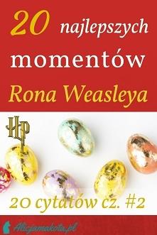 20 najlepszych cytatów Rona [KLIK] z książek o Harrym