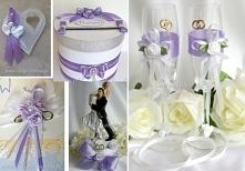 fioletowe dodatki, wesele i...