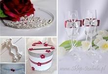 Bordowe dodatki, ślub i wesele