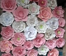 papierowe kwiaty, dekoracja