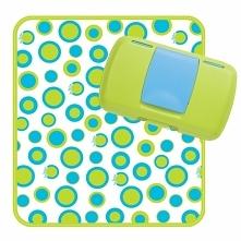 """Podróżny przewijak - bardzo wygodny i praktyczny pojemnik otwierany przy użyciu jednej ręki. Nazwany przez producenta """"diaper wallet"""" co oznacza portfel na pieluszki i..."""
