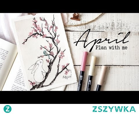 Plan with me | April 2018 Bullet Journal Setup + Cherry Blossom Tutorial!